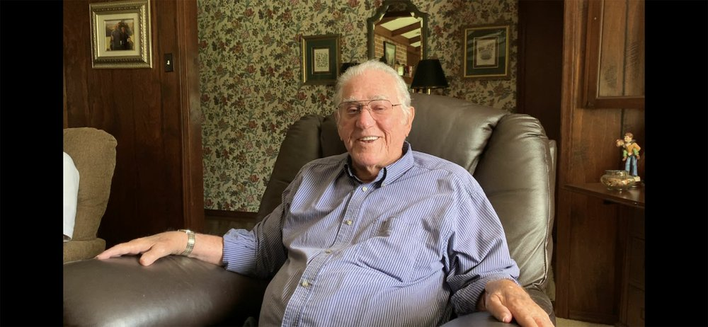 Lonnie Qualls, pictured in his Clarksville home, did it all while he went to high school at Clarksville. He was a two-time all-state running back in 1950-51 and led the Panthers to a district championship his senior year, and he also played basketball, baseball and track.