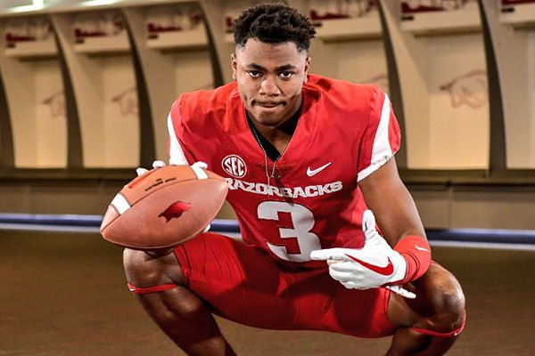 T.Q. Jackson is shown in a photo posted to his Twitter page. Jackson is part of a highly-rated group of receivers who will be freshmen this fall at Arkansas.