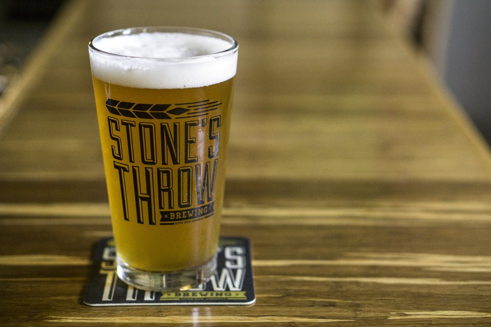 "Stone's Throw Brewing celebrates its sixth anniversary with its annual ""Block on Rock Birthday Bash"" festival Saturday along Rock Street in Little Rock. Democrat-Gazette file photo"