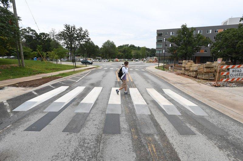 PHOTO: UA campus testing 3-D crosswalk design