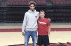 2020 wingman Quevian Adger and Arkansas Coach Eric Musselman.
