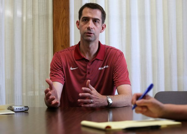 U.S. Sen. Tom Cotton says his focus is on 2020, serving out term