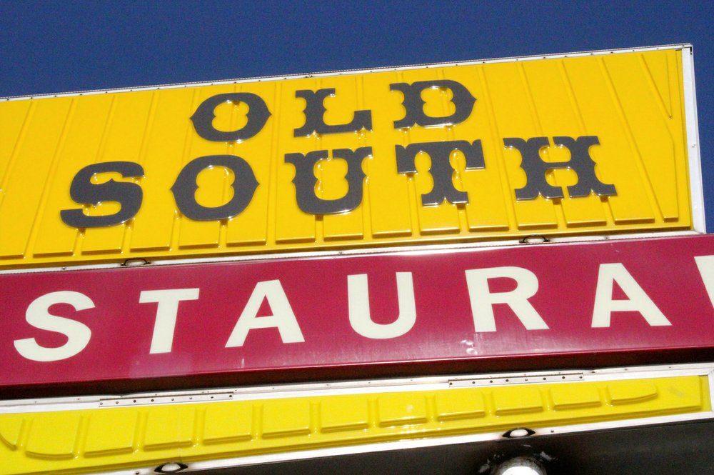 The Old South sign stands tall above U.S. 64 (East Main Street) in Russellville. (Special to the Democrat-Gazette/ELI CRANOR)