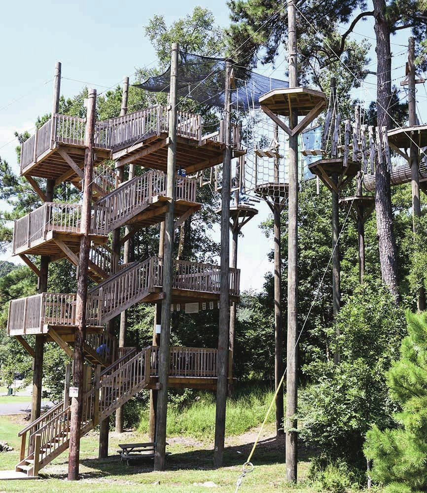 The Sentinel-Record/Grace Brown The ropes course at Catherine's Landing.