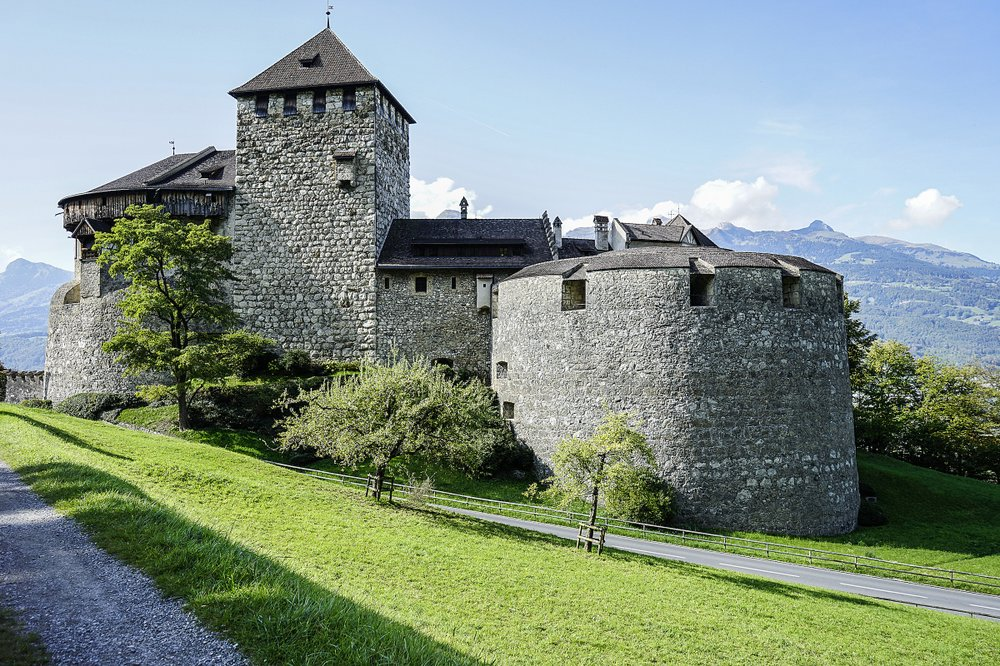 Vaduz Castle stands as one of many sights on the Liechtenstein Trail. Europe's fourth-smallest country has marked its 300th anniversary by joining all of its 11 towns via 46.6 miles of twisting, mountainous hiking trails. (Photo by Marina Pascucci via The New York Times)