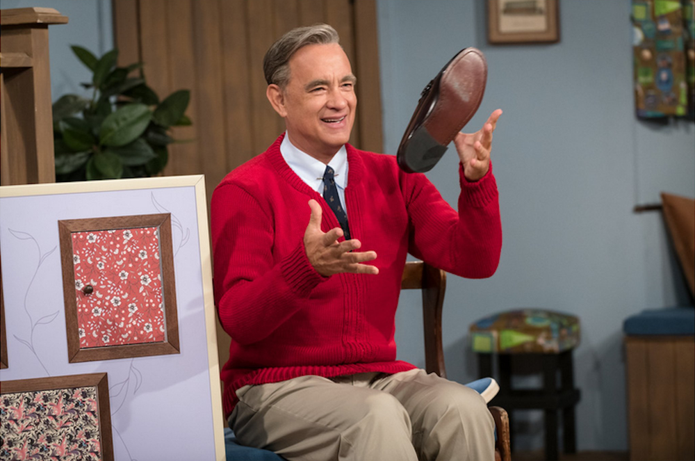 """Tom Hanks portrays beloved children's television star Mister Rogers in """"A Beautiful Day in the Neighborhood."""" (Columbia Pictures Entertainment)"""