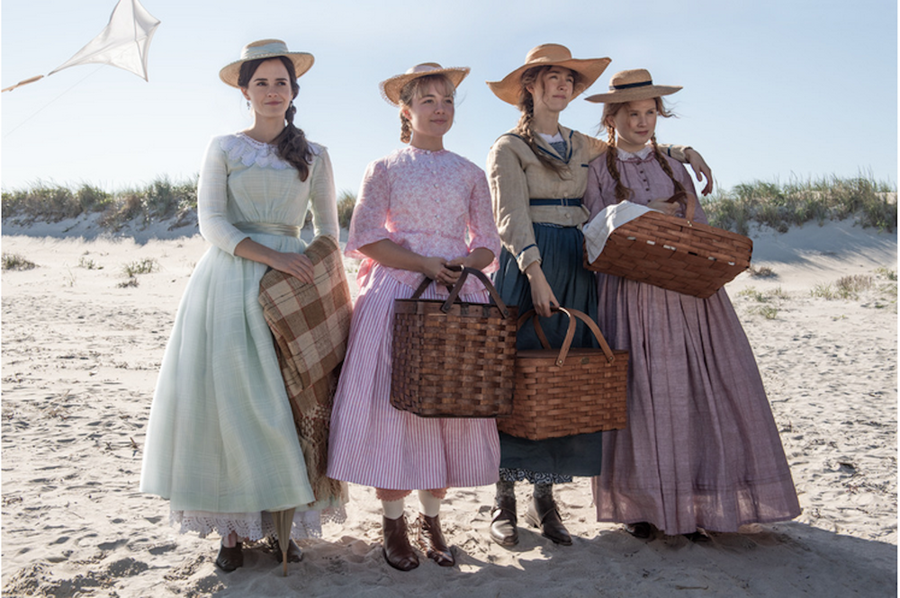 """Greta Gerwig directs a new version of """"Little Women,"""" which stars (from left) Emma Watson, Florence Pugh, Saoirse Ronan and Eliza Scanlen. (Columbia Pictures)"""