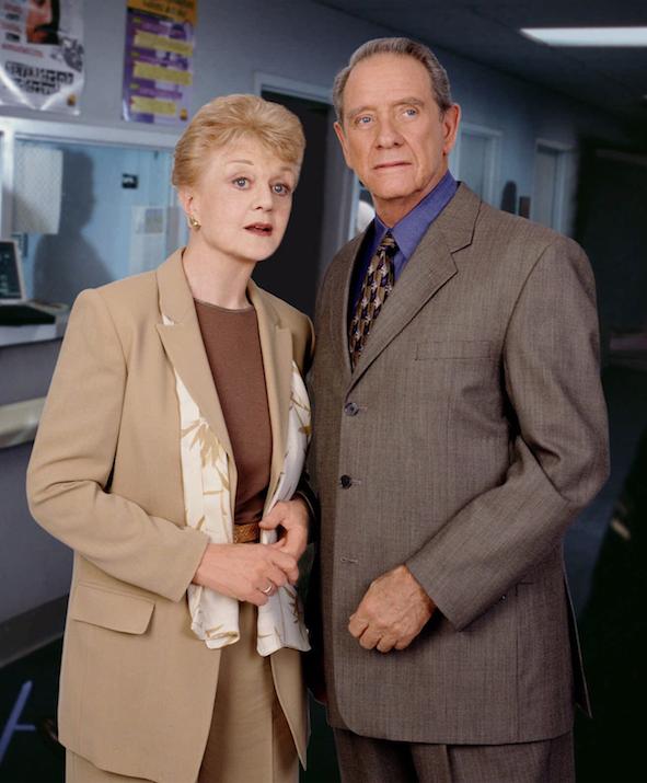 "Angela Lansbury and Richard Crenna in an episode of ""Murder, She Wrote."" (Democrat-Gazette file photo)"