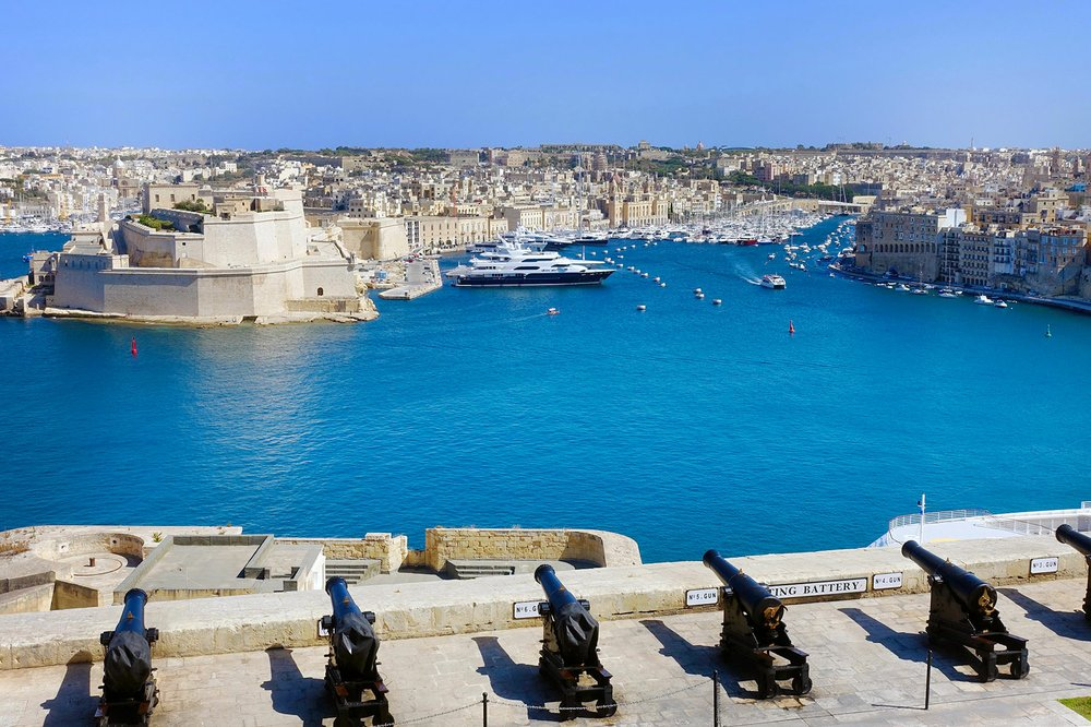 These massive harbor walls lined with cannons held off 40,000 Ottoman soldiers during the siege of Malta in 1565. (Photo by Rick Steves via Rick Steves' Europe)