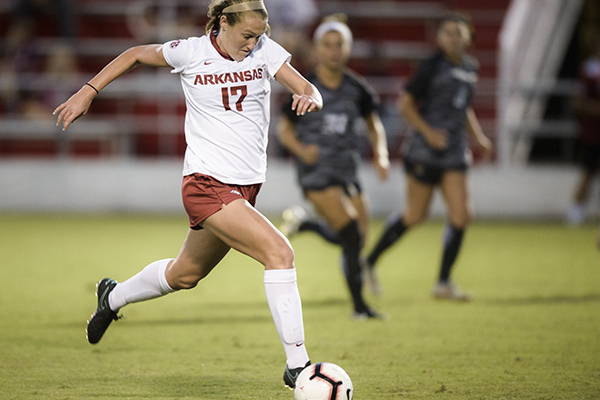 Razorbacks rout Lamar for first home soccer win