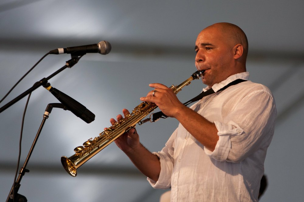 Saxophonist Derek Douget performs for Jazz at the Joint Monday in North Little Rock's Argenta Arts District. Special to the Democrat-Gazette