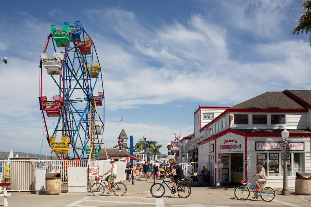 The ferris wheel at Balboa Fun Zone, in Newport Beach, Calif., dates back to 1936. (Photo by Beth Coller via The New York Times)