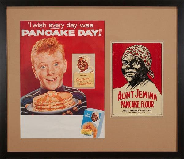 An advertisement for Aunt Jemima Pancake Flour is one of the pieces from the Jim Crow Museum of Racist Memorabilia collection. (Courtesy Jim Crow Museum of Racist Memorabilia)