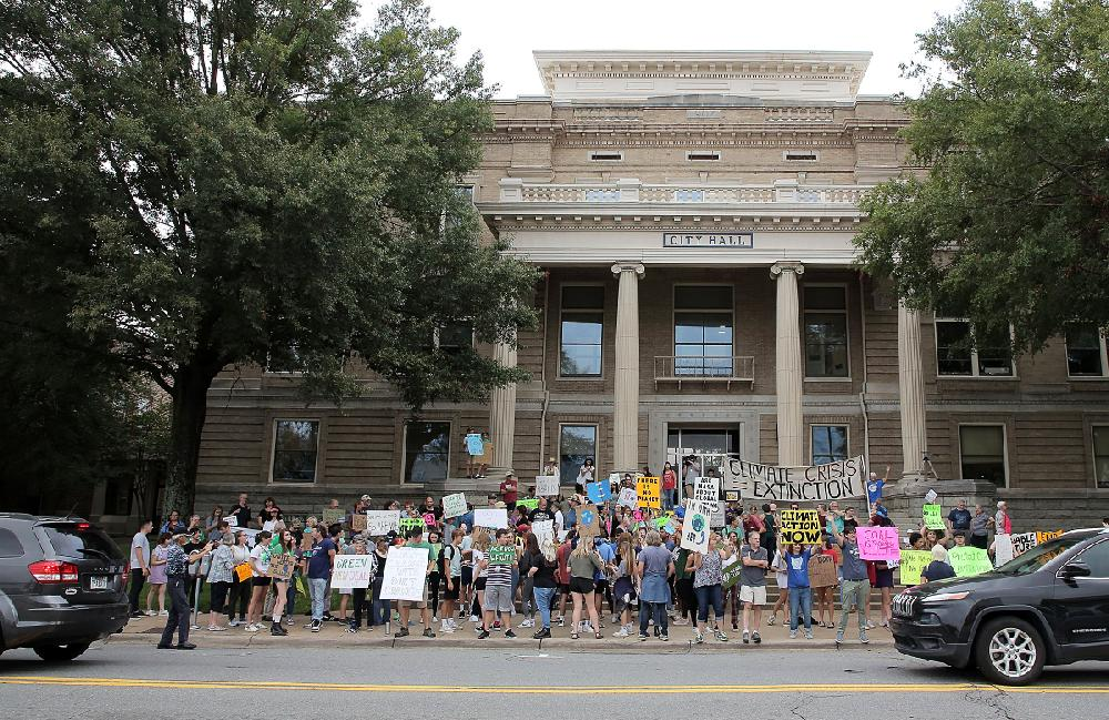 Young activists in Little Rock join global climate-change rallies