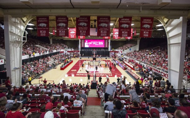 Arkansas holds their annual Red-White game Saturday, Oct. 5, 2019, at Barnhill Arena in Fayetteville.