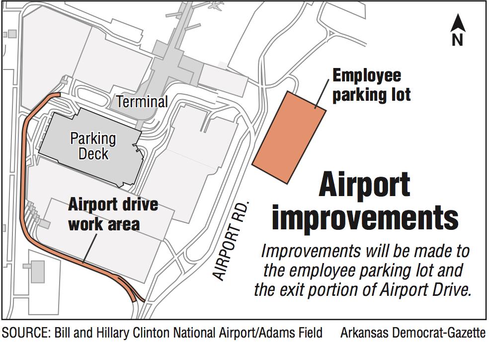 Little Rock airport plans staff parking project