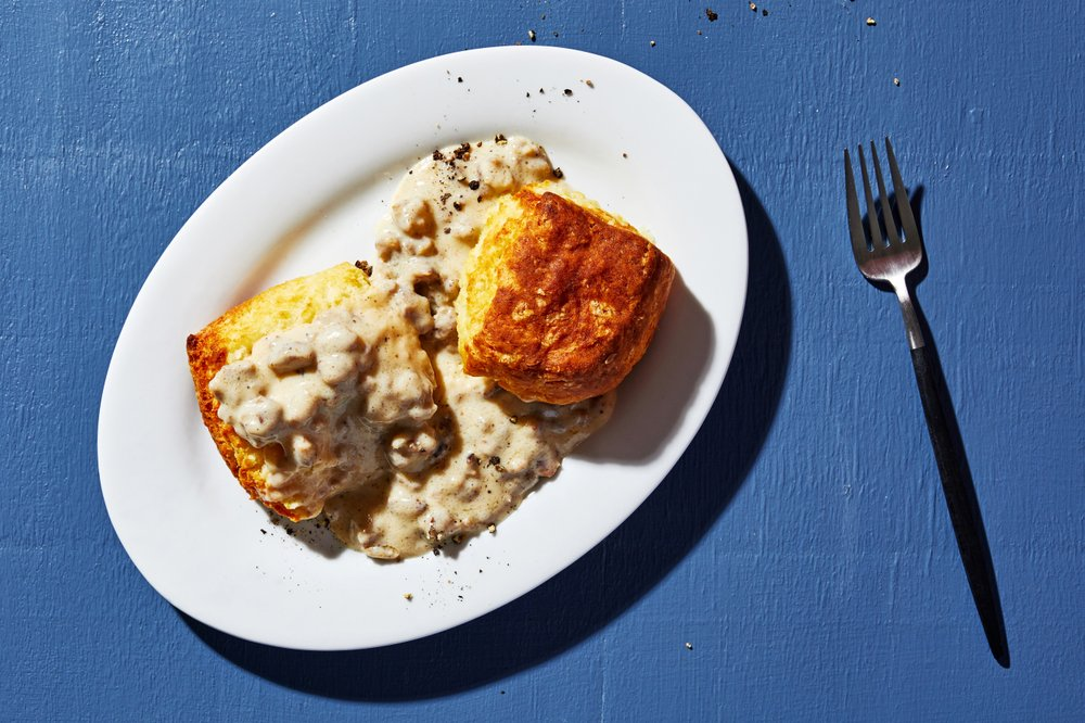 The likely birthplace of biscuits and gravy is southern Appalachia in the late 1800s, many food writers and culinary historians say. Photo by Stacy Zarin Goldberg for The Washington Post