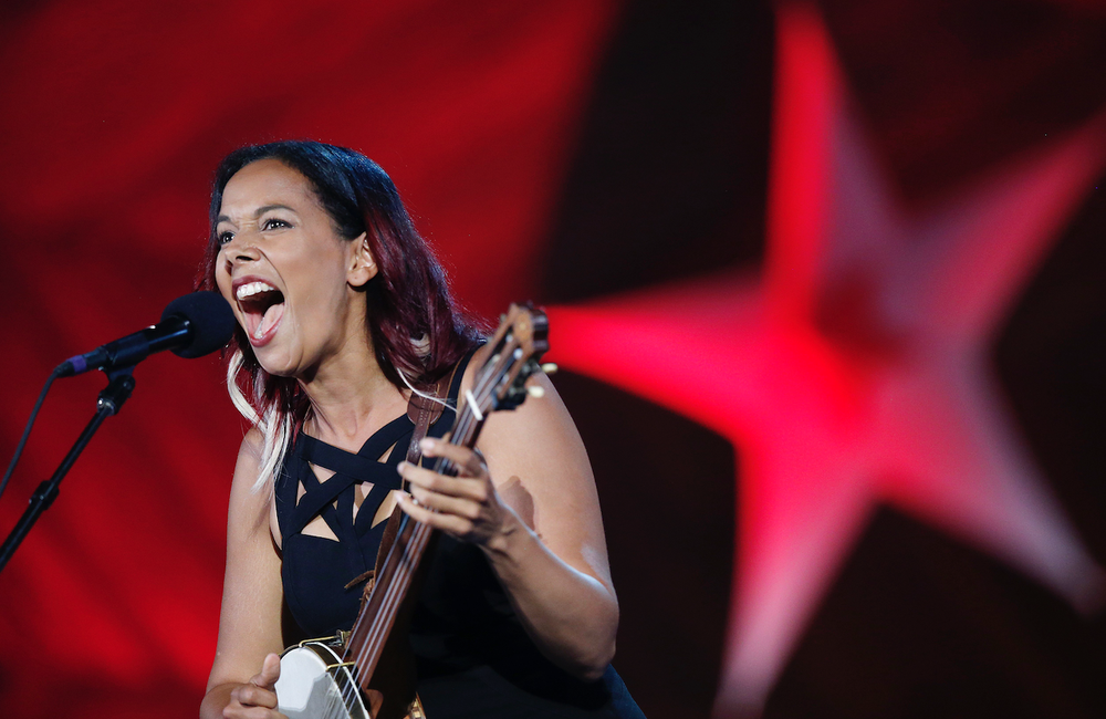 Rhiannon Giddens has been acclaimed as one of music's most impassioned musicians and a champion of American music's diverse musical and cultural roots. (AP)