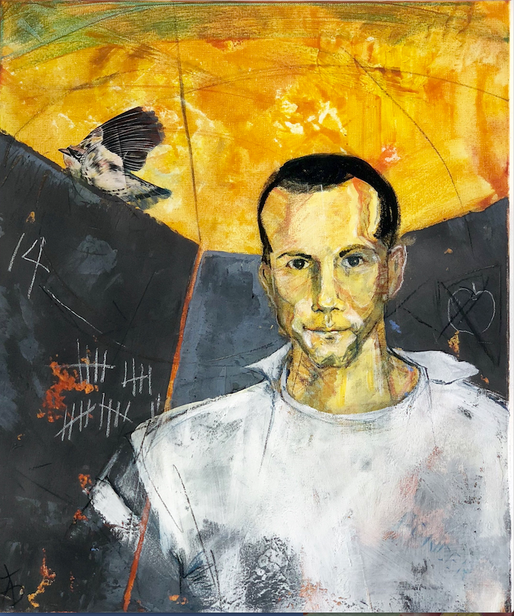 Tanya Hollifield created a multi-media work of inmate  John Ponder. (Courtesy Compassion Works for All)