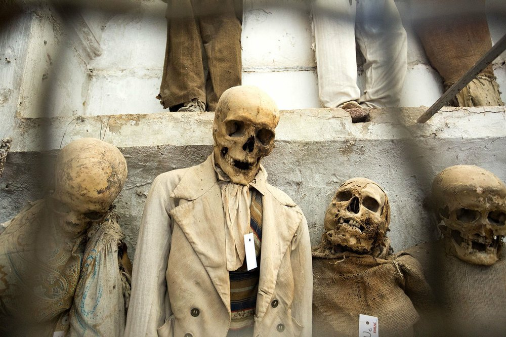 The Capuchin Crypt in Palermo, Sicily, displays mummified bodies complete with clothing intended to remind the living that life is temporary. (Photo by Dominic Arizona Bonuccelli via Rick Steves' Europe)