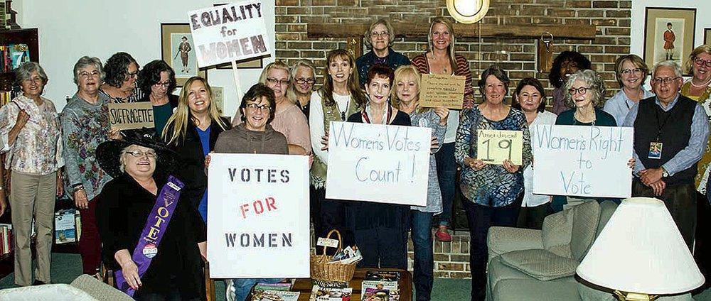 Virginia Clinton Kelley Democratic Women's Club recently celebrated Amendment 19, which granted women the right to vote. - Submitted photo