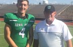 2021 athlete Cirby Coheley and his father and Iowa Park WR-MLB coach Craig Coheley.