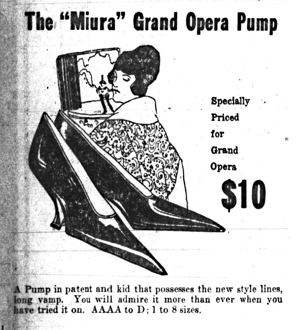 Part of an ad from Poe's Shoes in the Nov. 2, 1919, Arkansas Gazette. (Arkansas Democrat-Gazette)