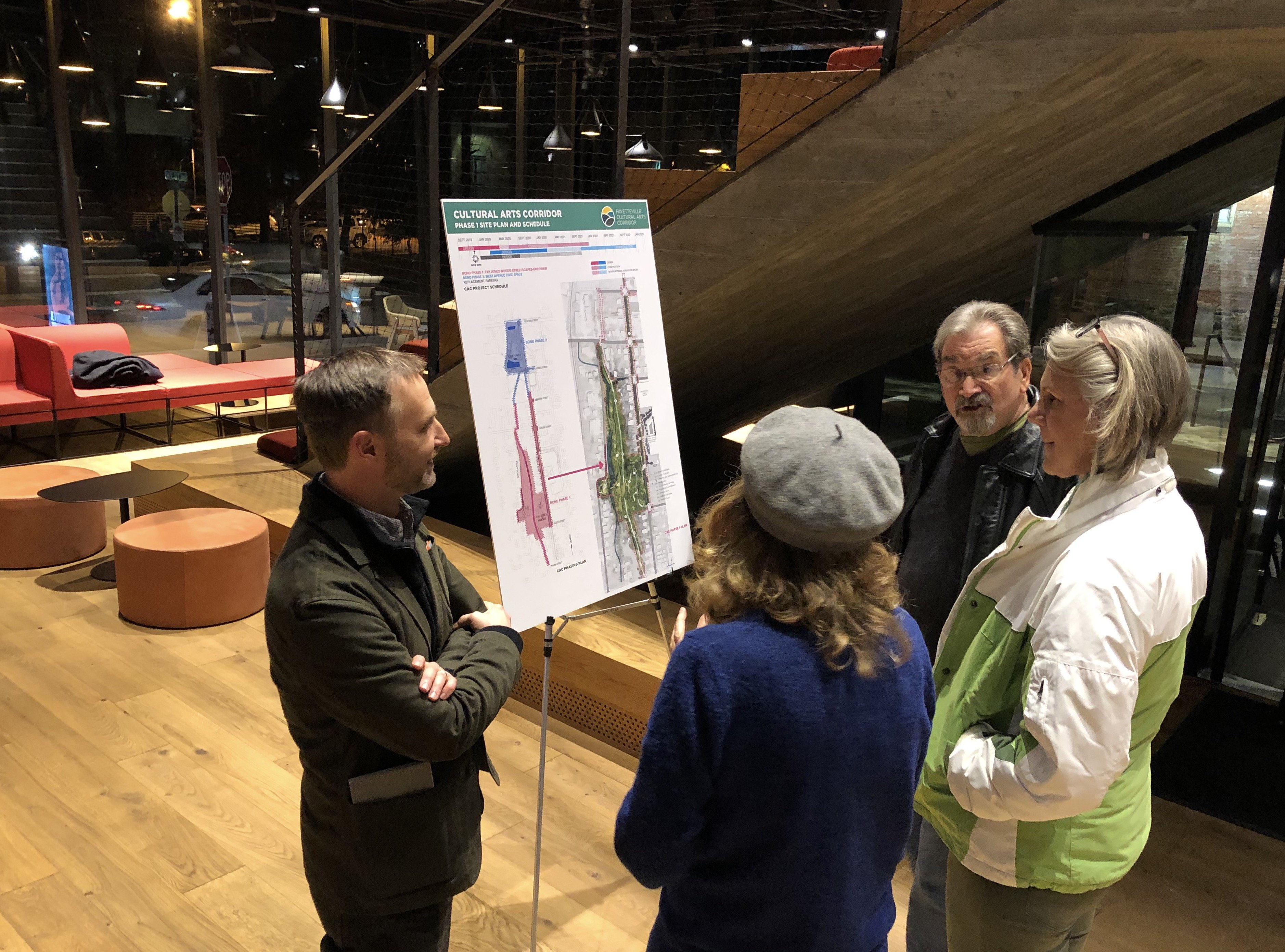 Concepts for initial phase of Fayetteville arts corridor on display