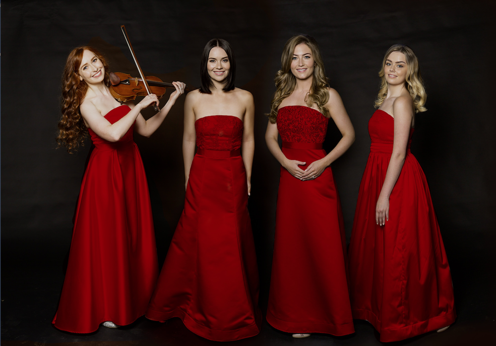 Celtic Woman — Tara McNeill (from left), Mairead Carlin, Eabha McMahon and Megan Walsh — performs Dec. 16 at the Robinson Center Performance Hall.