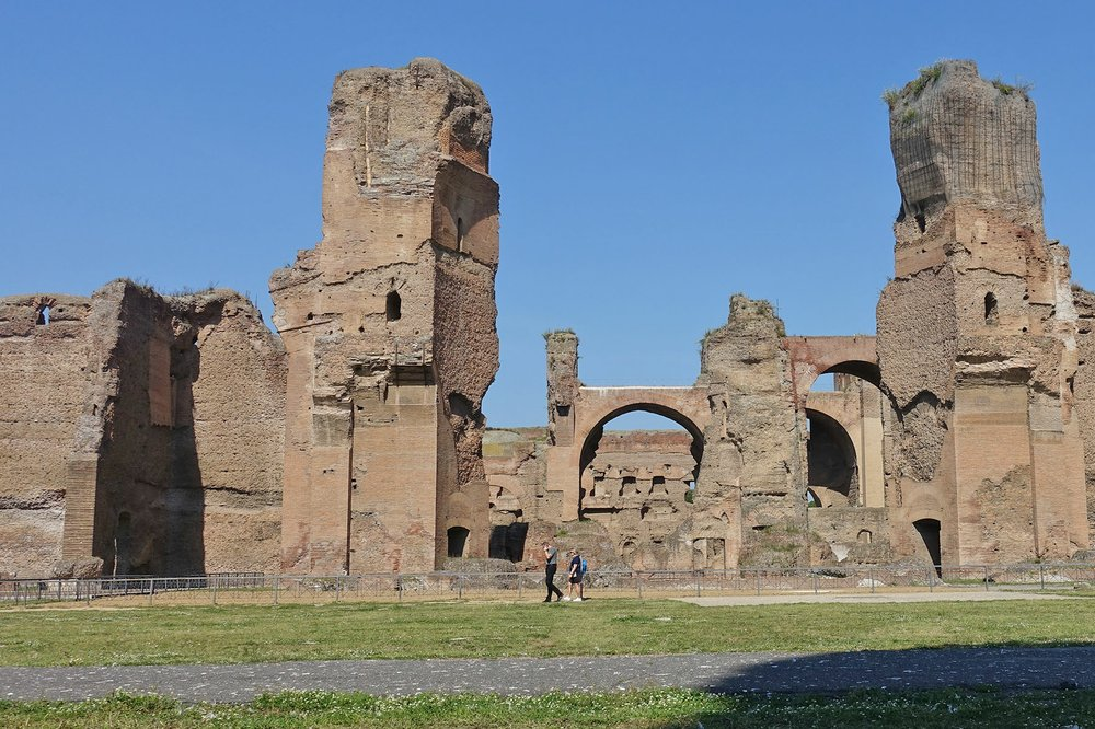 In Rome, the dramatic Baths of Caracalla are a 10-minute walk from the mobbed-with-tourists Colosseum. (Photo by Rick Steves via Rick Steves' Europe)