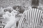 Arkansas running back Bill Burnett rushes for a 1-yard touchdown during the first quarter of a game against Texas on Dec. 6, 1969, in Fayetteville. (Shiloh Museum of Ozark History/Northwest Arkansas Times Collection)