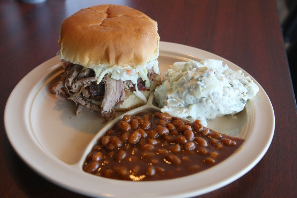 Pulled pork Sandwich at Whole Hog Cafe: The Little Rock restaurant is on Go Shindig's list and map of the nation's top barbecue spots. (Democrat-Gazette file photo)