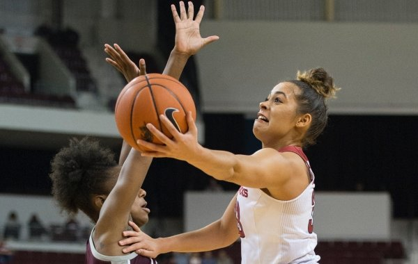UALR versus Arkansas during the game at Simmons Bank Arena in North Little Rock on December 21, 2019. View more images at arkansasonline.com/ualruawbb/