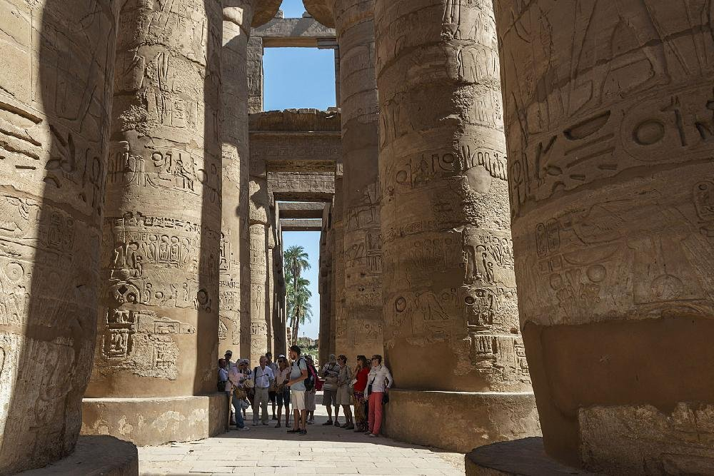 The temple complex of Karnak in Luxor, Egypt, on Sept. 29, 2019. In the late 1800s, women explorers sailed the Nile, sending back vivid accounts of Egypt's riches and a 21st-century writer travels in their wake.(Maria Mavropoulou/The New York Times)