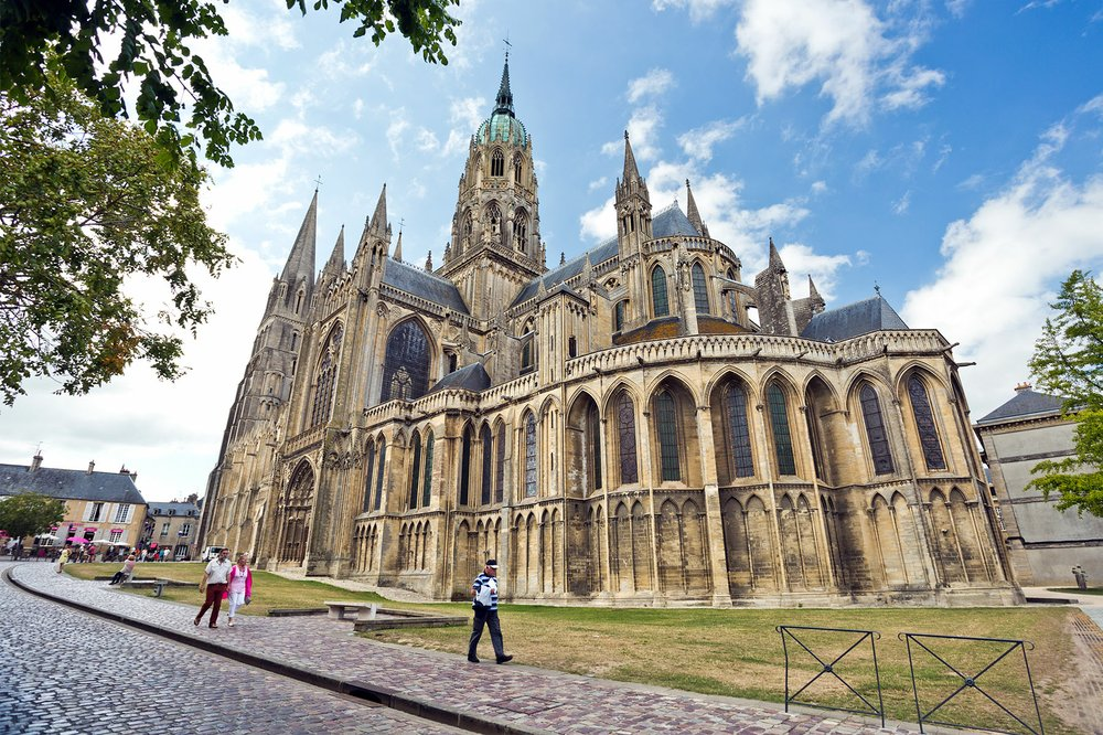 The centerpiece of a small town, Bayeux's cathedral is as large as Paris' Notre-Dame. (Rick Steves' Europe/Dominic Arizona Bonuccelli)