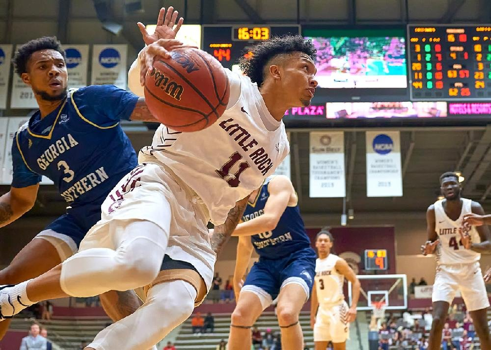 Jaizec Lottie finished with 14 points and six assists for the UALR Trojans in their 79-73 victory over Georgia State on Monday night in Little Rock.