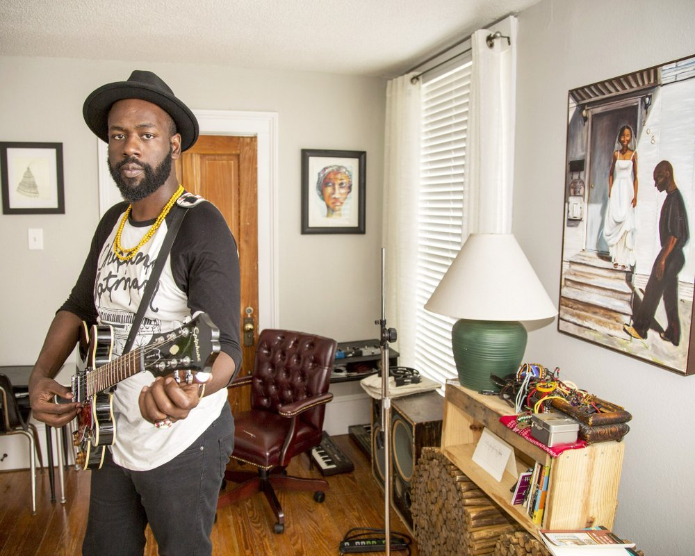 Joshua Asante plays Griffin Restaurant in El Dorado today. (Democrat-Gazette file photo/John Sykes Jr.)