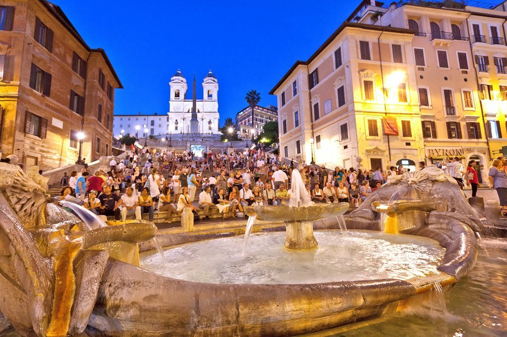 Sitting on the Spanish Steps a once-popular Roman pastime as seen in this photo from 2011 could now land you a hefty fine. (Rick Steves' Europe/Dominic Arizona Bonuccelli)