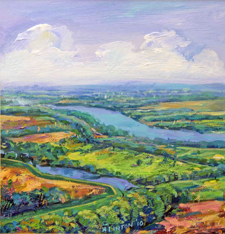"""""""Arkansas River #178"""" by Henri Linton is an example of his colorful approach to landscape.  (Courtesy Henri Linton)"""