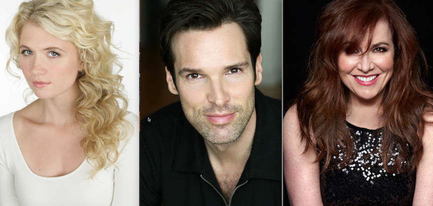 Scarlett Strallen (from left), Hugh Panaro and Debbie Gravitte sing this weekend with the Arkansas Symphony