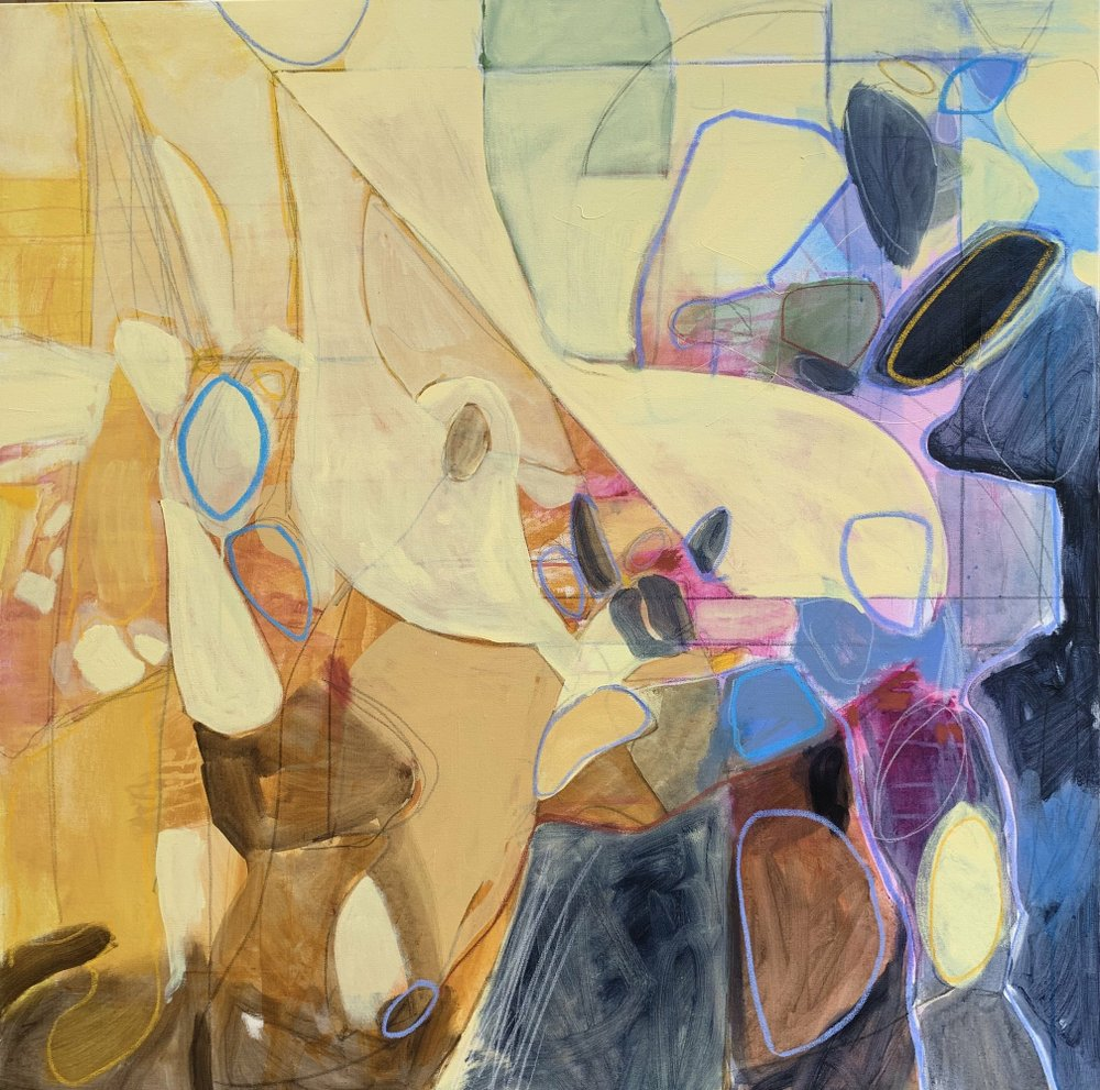 Untitled mixed-media work by Bryan Frazier go on display Friday at Thea Foundation in North Little Rock. (Special to the Democrat-Gazette)