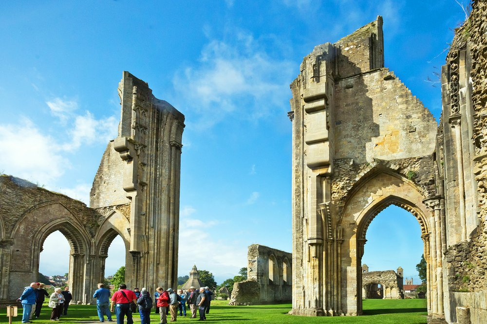 The evocative ruins of Glastonbury Abbey, in southwest England, mark one of the holiest spots in Great Britain. (Rick Steves' Europe/Addie Mannan)