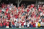Image from Arkansas' win over Tennessee Sunday April 28, 2019 at Baum/Walker Stadium in Fayetteville. The Razorbacks start the 2020 season against Eastern Illinois today.