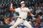 Texas pitcher Ty Madden throws during a game against Arkansas on Saturday, Feb. 29, 2020, during the Shriners Hospitals for Children College Classic at Minute Maid Park in Houston.