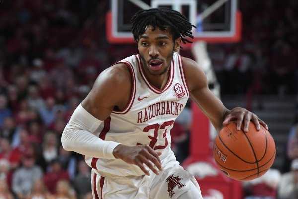 Arkansas' Jimmy Whitt is shown during a game against LSU on Wednesday, March 4, 2020, in Fayetteville.