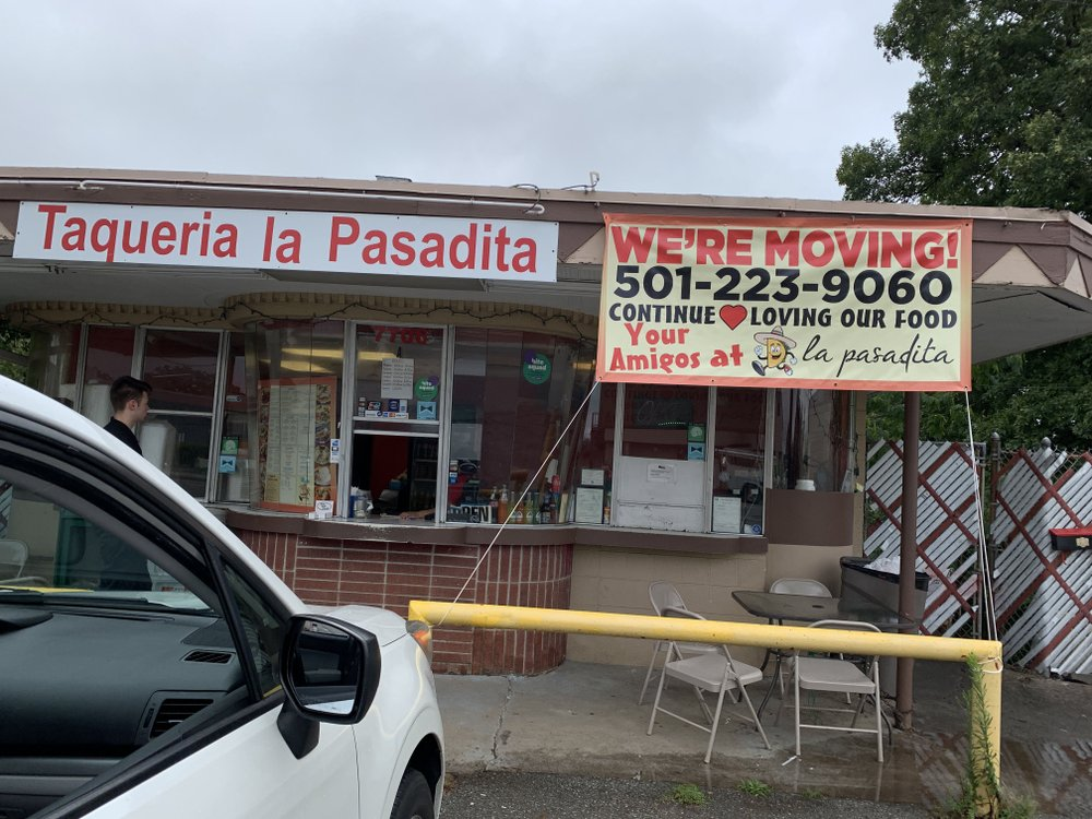 The former Hop location at 7706 Cantrell Road, Little Rock, is being torn down, forcing Taqueria La Pasadita Mexican Cafe to move out. (Arkansas Democrat-Gazette/ERIC E. HARRISON)