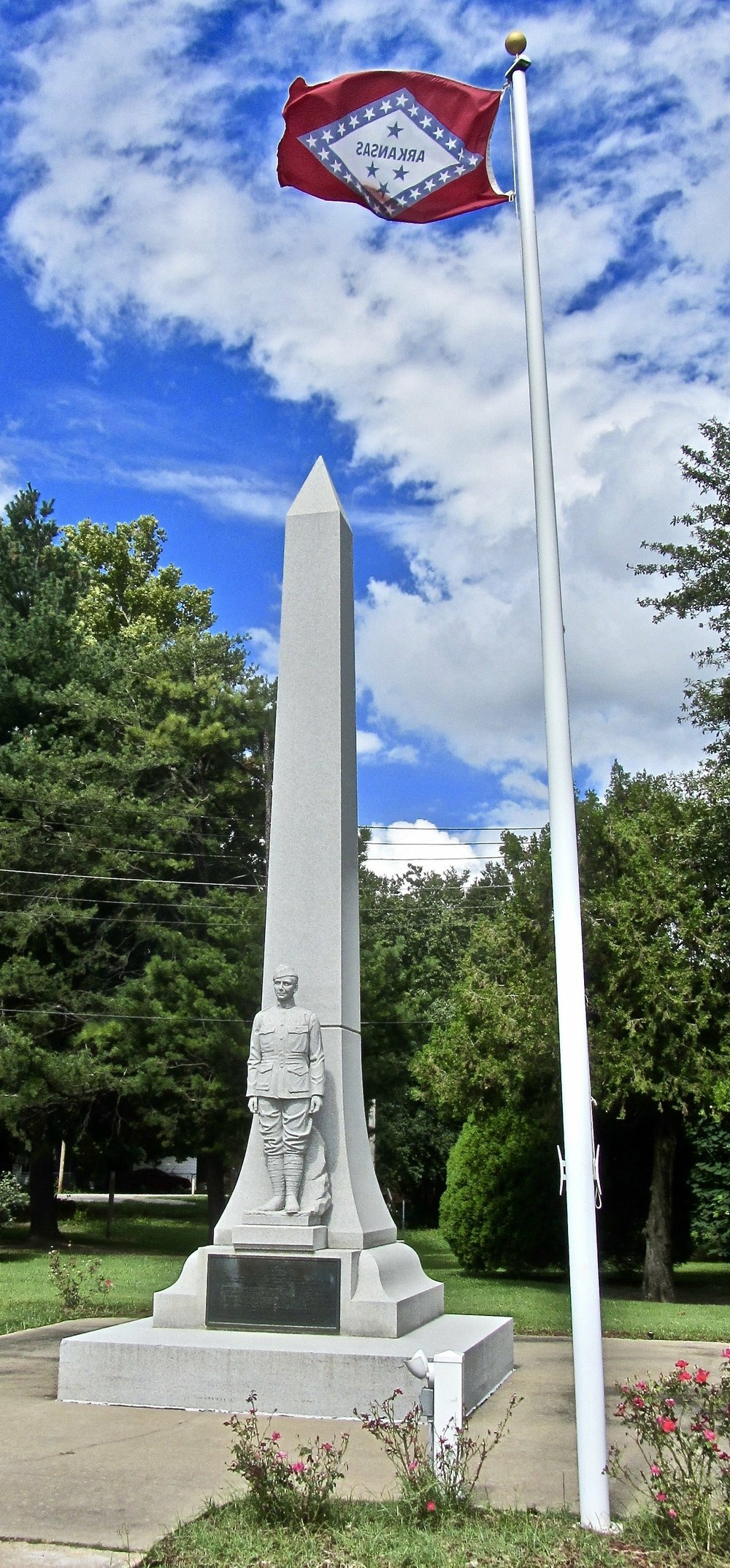 Manila, named after the Philippines capital, is the site of Arkansas smallest state park, dedicated to World War I honoree Herman Davis.  (Special to the Democrat-Gazette/Marcia Schnedler)