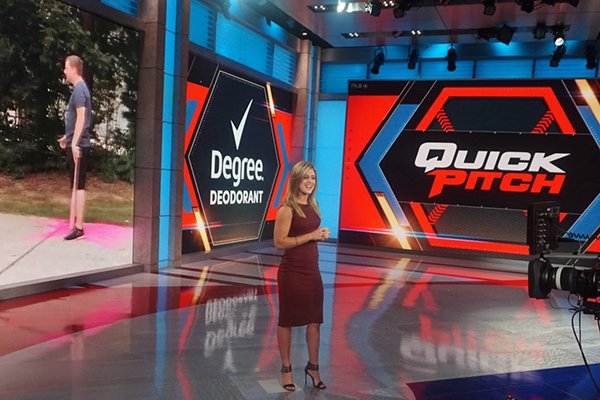 Arkansas softball player Sydney Parr is shown at MLB Network studios in Seacaucus, N.J., in 2017. Parr was an intern for the network.
