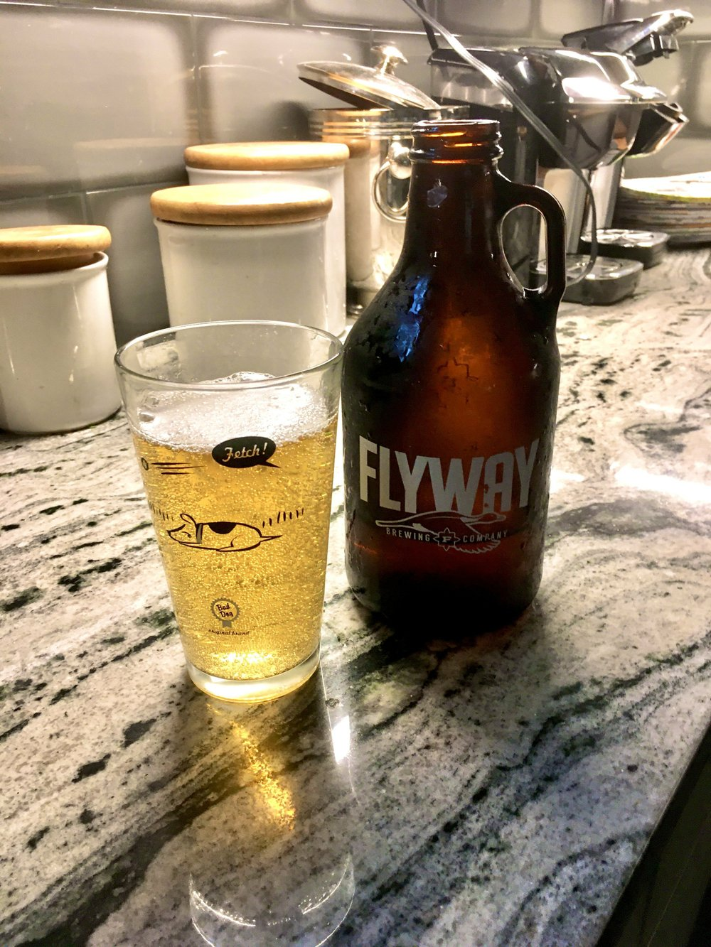 To wash down the meal, a growler filled with Pintail IPA was in order. (Arkansas Democrat-Gazette/Philip Martin)