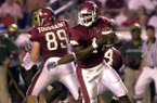 Arkansas quarterback Tarvaris Jackson is shown during a game against South Florida on Saturday, Sept. 14, 2002, in Little Rock.